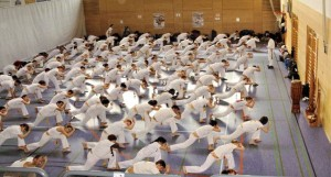capoeira paris echauffement