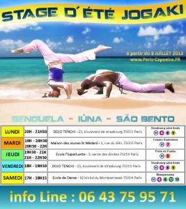 capoeira paris vacances juillet 2013